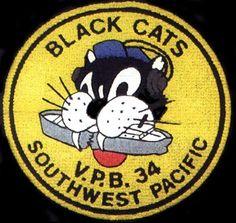 PBY Catalina Black Cats logo's