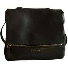 Pre-owned Givenchy Pandora Leather Crossbody Bag (38,395 PHP) ❤ liked on Polyvore featuring bags, handbags, shoulder bags, black, women bags handbags, purse shoulder bag, leather man bags, leather cross body purse, leather handbags and crossbody purses
