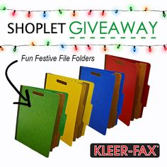 Spread the holiday cheer to your office supplies with fun festive Kleer-Fax file folders!