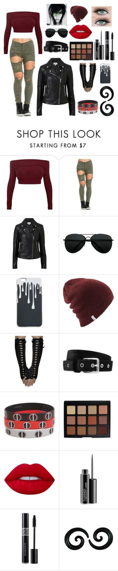 """""""Lil' Missy"""" by missychiken ❤ liked on Polyvore featuring Witchery, Anderson's Belts, Marvel, Morphe, Lime Crime, MAC Cosmetics and Christian Dior"""