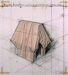 """Wrapped Snoopy House"" - 2004 - Christo and Jeanne-Claude."