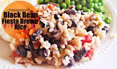 Cheeeeeesy Black Bean Fiesta Brown Rice!