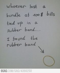 I found the rubber band.....