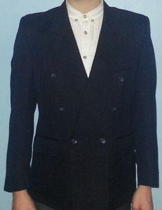 Great Mod Jacket  Black Pinstriped Blazer  50s 60s Large Lapels Double Breasted Suit Dinner Smoking Formal Teddyboy. £28.00, via Etsy.    https://www.etsy.com/listing/122478702/great-mod-jacket-black-pinstriped-blazer