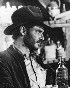 "The classic ""indy"" bash Harrison Ford Indiana Jones, Indiana Jones Films, I Movie, Movie Stars, Henry Jones Jr, Steven Spielberg Movies, Adventure Style, Star Wars Film, George Lucas"