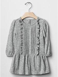 Slub pintuck  dress