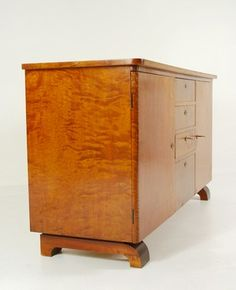 Skjenk i art deco stil, 1930-50 | Lauritz.com Functionalism, My Arts, Art Deco, Cabinet, Storage, Furniture, Home Decor, Clothes Stand, Purse Storage