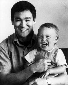 Bruce Lee and his son, Brandon Lee.. Just imagine if they were still here. WOW!