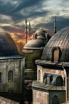 Sultanahmet from Hagia Sophia, Istanbul, Turkey