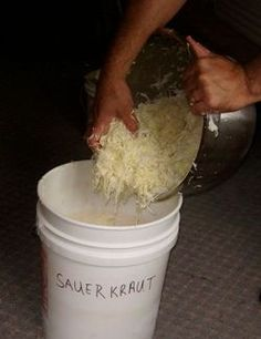Making Sauerkraut - I think I may try this, and there's a recipe to can the kraut too