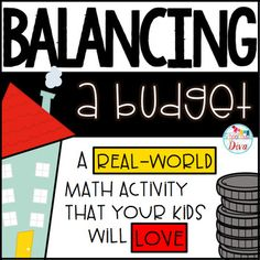 Financial Literacy - Balancing a Budget:  An Adding and Subtracting Whole Numbers activity!  This is a great project based learning idea!This financial literacy activity is great for 3rd - 5th graders as an enrichment or extension activity for addition and subtraction of whole numbers.