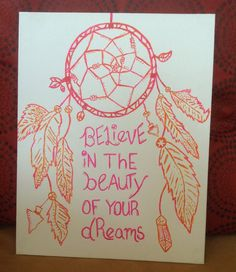 Dreams Canvas Quote by ColorMyThoughts on Etsy, $25.00