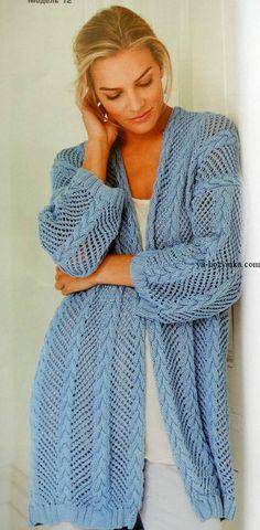 Кардиган спицами. Вязание спицами для женщин модные модели 2017 года с описанием