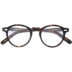 Moscot 'Miltzen' glasses (£250) ❤ liked on Polyvore featuring accessories, eyewear, eyeglasses, glasses, accessories - glasses, sunglasses, brown, moscot, acetate glasses and moscot glasses