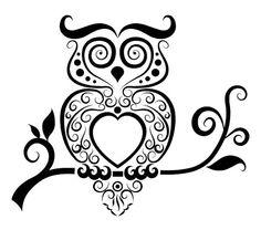 Owl Wall Decal Owl Bird Night Decal Sticker by RespectPrinting
