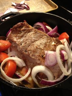 Boliche: Stuffed Cuban Pot Roast    This pork or beef roast is stuffed with ham and garlic. Oh, the wonderful smell! Simple, flavorful comfort food that's perfect for a fall dinner.
