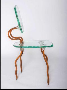 Danny Lane glass chair sculpture