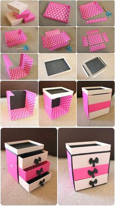 DIY Make Up Storage