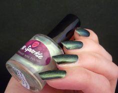 Ms. Sparkle Optical Phenomena | Squeaky Nails http://www.squeakynails.com/2015/05/swatches-ms-sparkle-polish-virga-sunset.html
