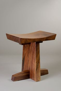 Orchard salvaged claro walnut stool handmade by Brian Hubel, Colorado Springs, Colorado Handmade Wood Furniture, Woodworking Furniture, Wooden Furniture, Custom Furniture, Furniture Design, Furniture Dolly, Luxury Furniture, Wooden Projects, Furniture Projects