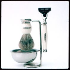 For the Elvis in your life: Ivory 3 piece shaving set by Dr. Harris & co.