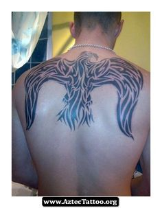 Tribal Aztec Eagle Tattoo Designs 08 - http://aztectattoo.org/tribal-aztec-eagle-tattoo-designs-08/