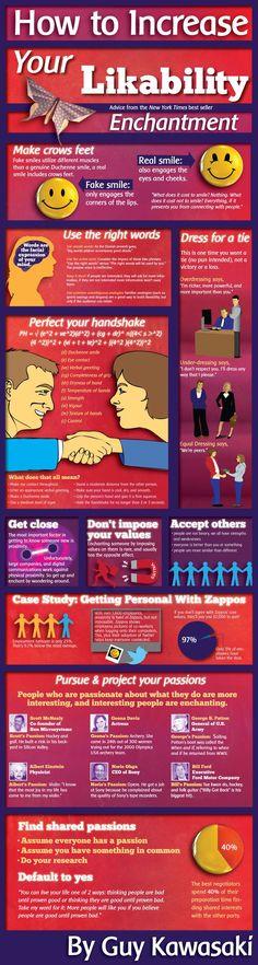 How To Increase Your Likability #infographic entrepreneurship ideas, #entrepreneur