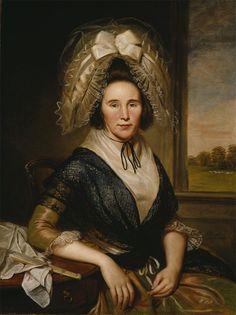 'Rachel Leeds Kerr', and Oil Painting by Charles Willson Peale in 1790
