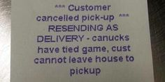 The pizza receipt, haha, I totally understand feel the same about Hawks