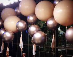 Our new shiny rose gold balloons in all their glory... #partysplendour #balloons #balloonssydney #sy - partysplendour
