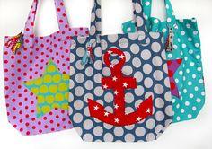 """Farbenmix: Freebook """"Omas Liebling"""" Einkaufsbeuteln , einlagig mit versteckten französischen Nähten. Eine meiner meist genutzten Taschen!"""
