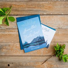 Brides.com: . Lakeside destination wedding invitation, starting at $102.50 for 25 suites, Starboard Press