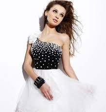 black and white cocktail dress -