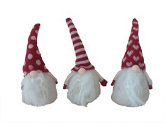 Lot of 3 Scandinavian Swedish Tomte Nisse Christmas Troll Gnome Elf 5.5 inches