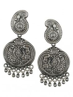 Pair of Ethno Silver Earrings Silver Anatomy, Rs. 5250, www.jaypore.com