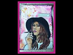 Painting over a Magazine Image Art Journal Page - YouTube