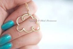NEW  Cloud Cloud Necklace  Large Natural Bronze by blackpersimmons, $26.00