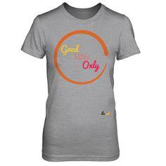 good vibes design t shirt