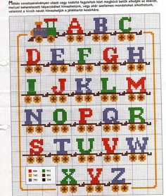 Cross Stitch Letter Patterns, Cross Stitch Letters, Cross Stitch Borders, Cross Stitch Baby, Counted Cross Stitch Kits, Cross Stitch Charts, Cross Stitch Designs, Cross Stitch Embroidery, Embroidery Patterns