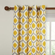 Yellow curtains Bedroom - John Lewis & Partners Indah Pair Lined Eyelet Curtains, Lagoon. New Living Room, Living Room Decor, Bedroom Decor, Dining Room, Curtain Fabric, Panel Curtains, Lounge Curtains, Curtains Living, Yellow Curtains