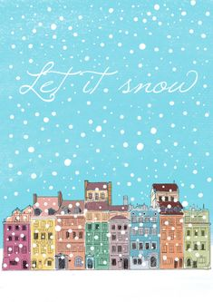 Let it snow – Winter House Winter Home Decor, Winter House, Let It Snow, Let It Be, Portfolio Book, Children's Book Illustration, Wordpress Theme, Postcard Book, Winter Things