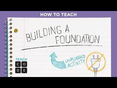 Unplugged Lesson in Action - Building a Foundation - YouTube