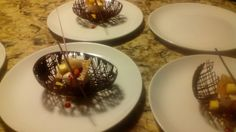 Strawberry moose in chocolate shell
