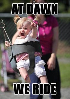 This is one intense baby!
