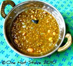 One Hot Stove: Lentils with Peanuts