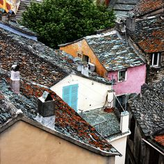 Roofs, terraces, windows,... (Nonza) | Flickr - Photo Sharing!