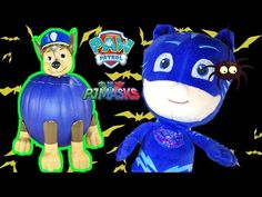 Paw Patrol Chase Pumpkin Surprises Inside From PJ Masks | LittleWishes - YouTube