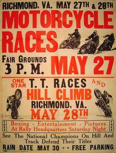 motorcycle racing poster | Vintage OCD