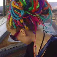 Yarn Dread Extensions. Not that this is my style, but it is still pretty cool looking!