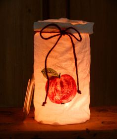 Windlichter - Apfel Windlicht in Weckglas - ein Designerstück von uggla-deko bei DaWanda
